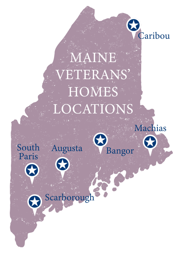 maine veterans homes locations map graphic