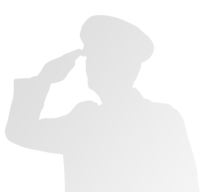 grey soldier saluting graphic