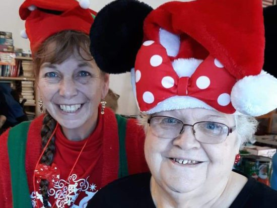 MVH resident and friend celebrate Christmas