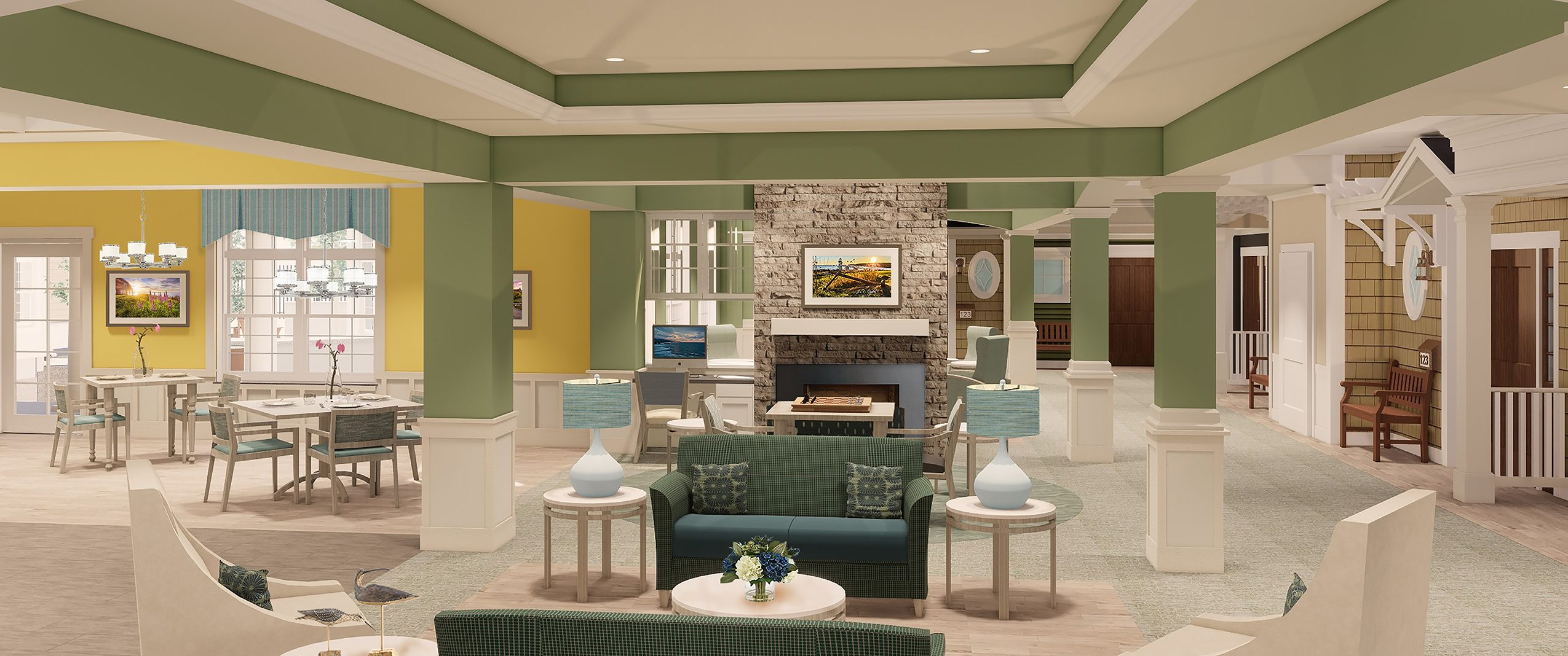 MVH Augusta New Home living room graphic