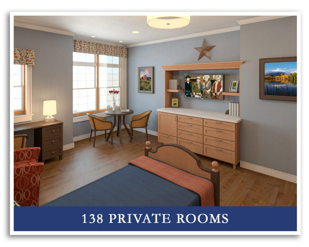 MVH Augusta New Home, all private rooms