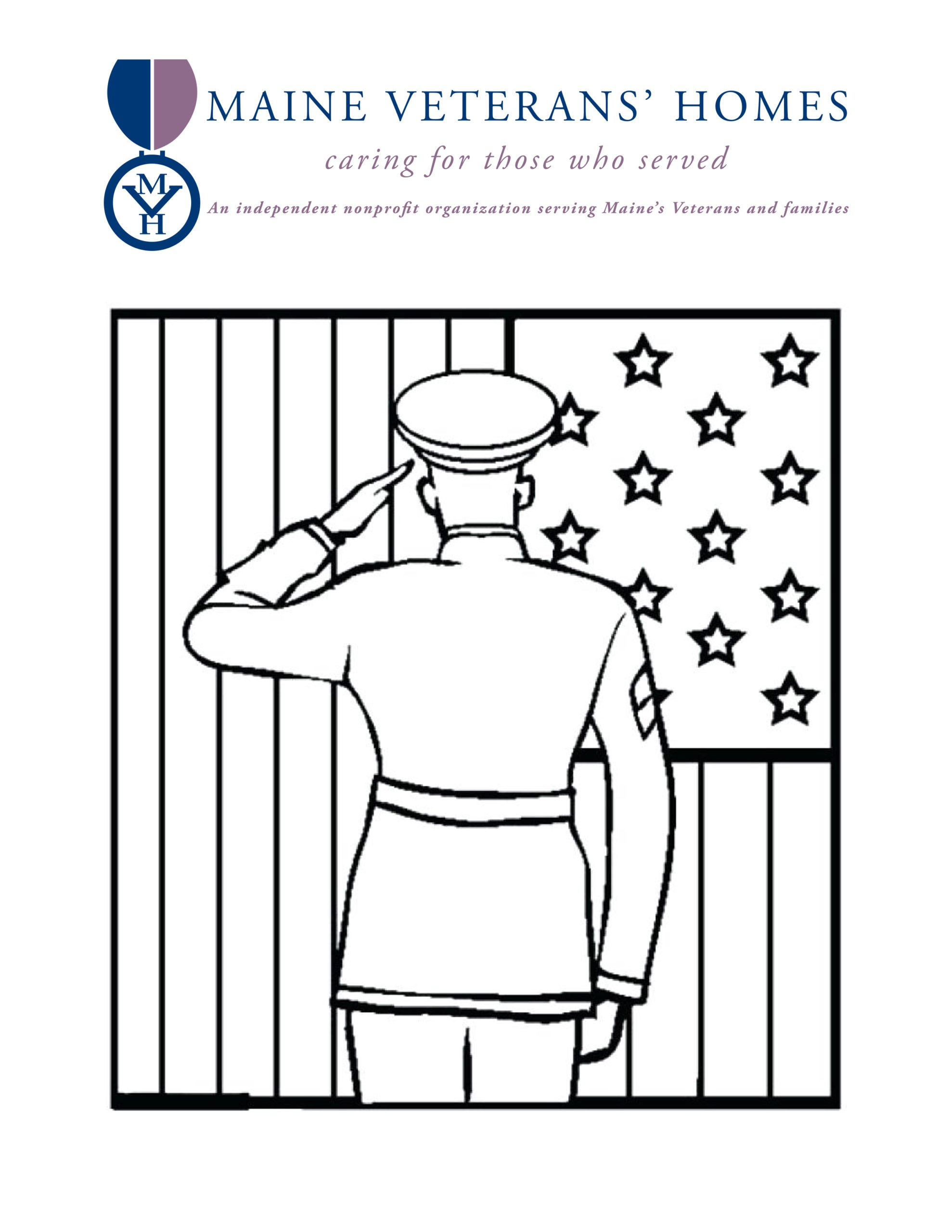 Maine Veterans' Homes coloring page