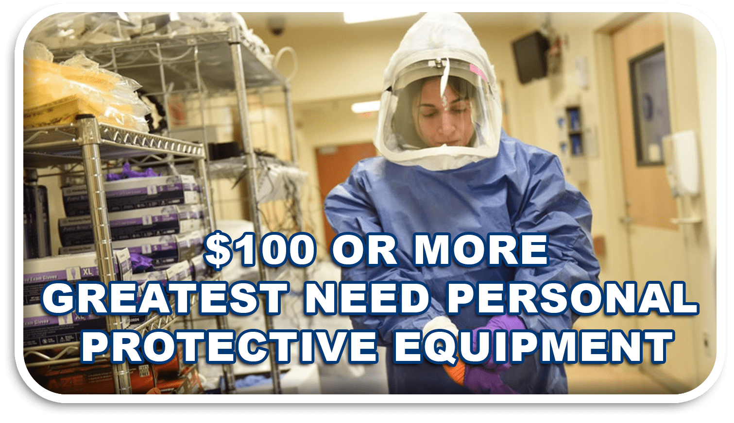 PPE graphic seeking donations