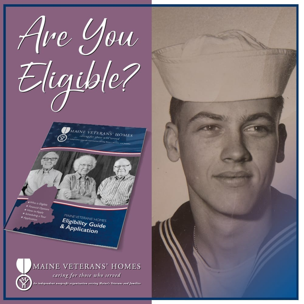 Eligibility Guide with photo of young man in Navy