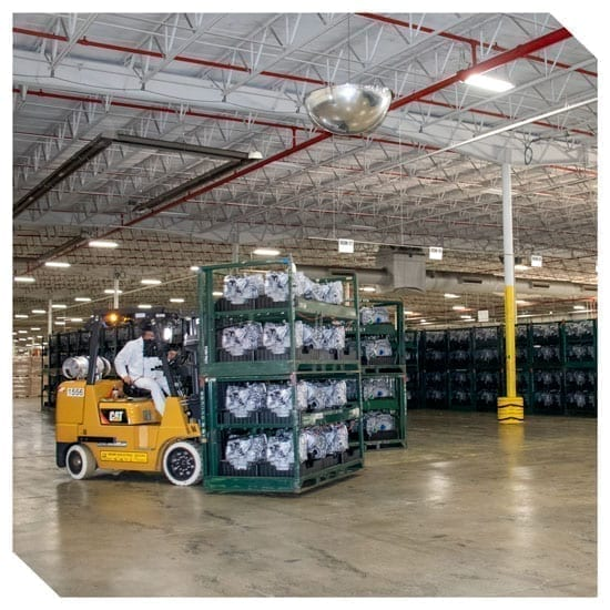 nkp forklift in the warehouse