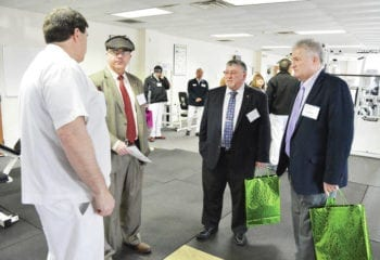 a tour of the new NKP/HealthStat Care Clinic during a grand opening