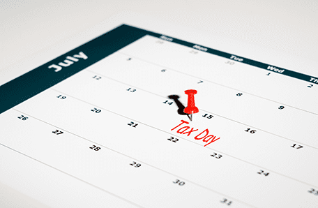 July 15th tax deadline on the calendar