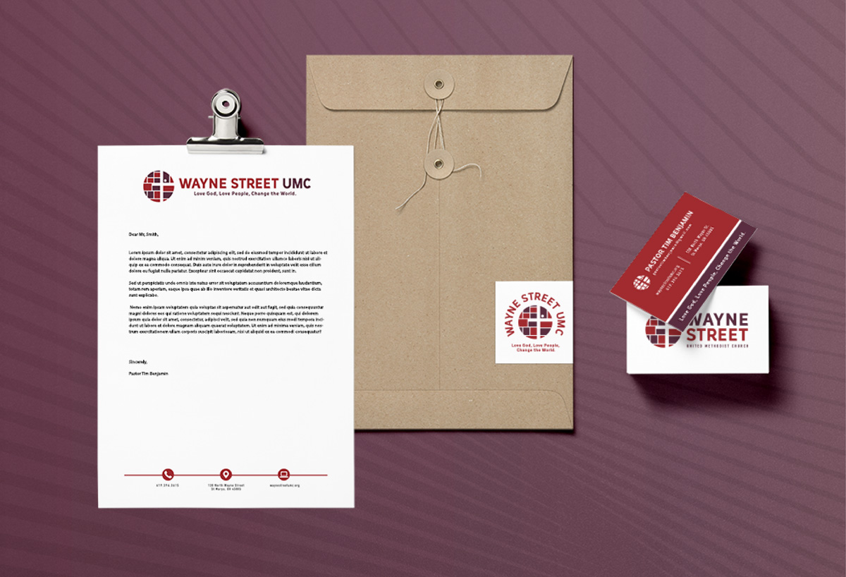 wayne street church print collateral