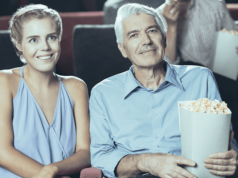 3.	Adult daughter taking her dad out to a movie, who lives in long-term care.