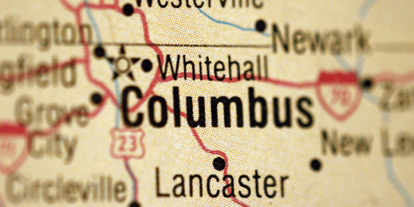 Map of the historical things to do around Columbus, Ohio.