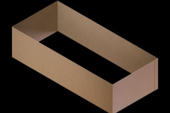 Rectangular cardboard insert with four sides