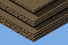 Cardboard pieces in single, double and triple-wall thicknesses