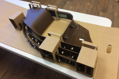 Custom cardboard box with inserts for parts
