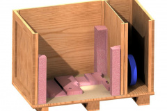 Custom wood crate with compartments
