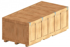 Custom wood crate with large closed lid