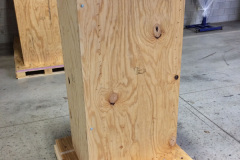 Large vertical custom wooden crate