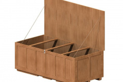 Custom wood crate with hinged lid
